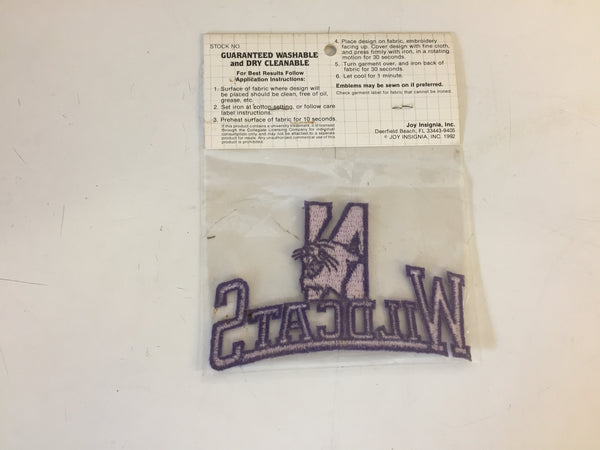 Vintage NOS 1990's Northwestern Wildcats Illinois University Iron-On Embroidered Emblems Patch