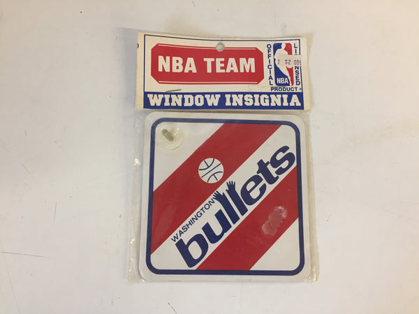 Vintage NOS 1990's Washington Bullets NBA Team Window Insignia