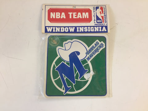 Vintage NOS 1990's Dallas MAVERICKS NBA Team Window Insignia
