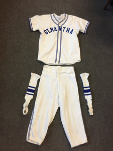 Vintage Vintage 1940's 50's St Martha Youth Baseball Uniform Dads Club School Church Sport