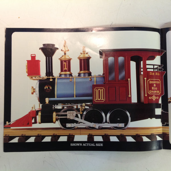Vintage 1987 Lionel Toy Train Large Scale Denver Rio Grande Color Brochure
