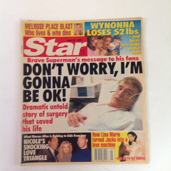 Vintage June 20 1995 STAR Christopher Reeves Superman Message