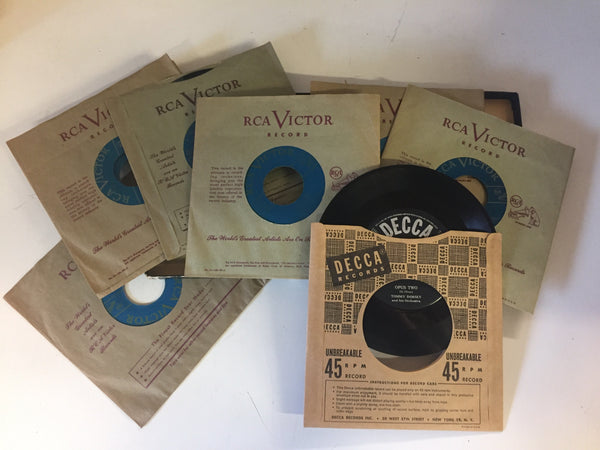 Vintage TOMMY DORSEY 45 RPM Box Set RCA Victor Blues / Jazz