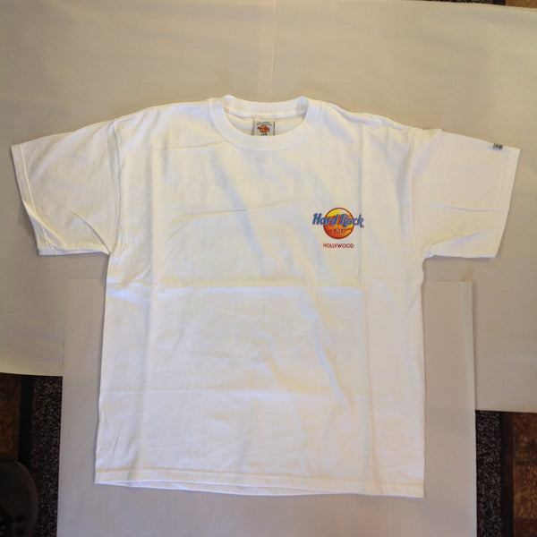 Authentic Hard Rock Cafe Hollywood Souvenir Men's XL White Heavy Tee T-Shirt with Tags
