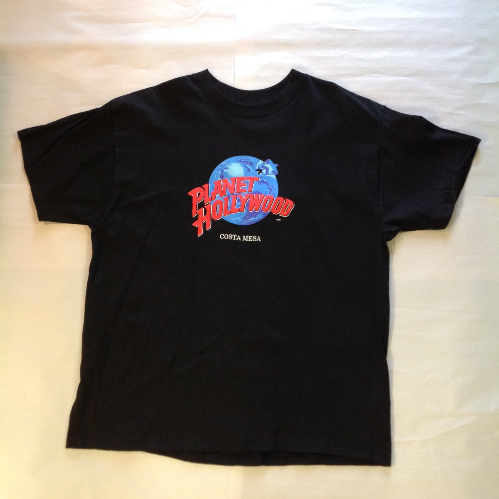 Authentic Souvenir Men's XL Black Short Sleeve Cotton Planet Hollywood Costa Mesa T-Shirt