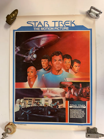 Vintage 1979 Star Trek The Motion Picture Theater Give Away Movie Poster
