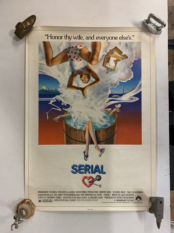 Vintage 1980 SERIAL Movie Theater Give Away Poster