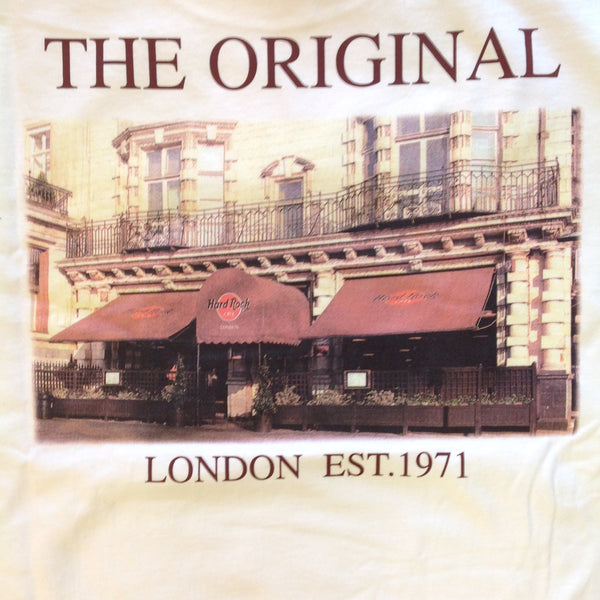 Authentic Men's XL White Short Sleeve Hard Rock Cafe London Original T-Shirt