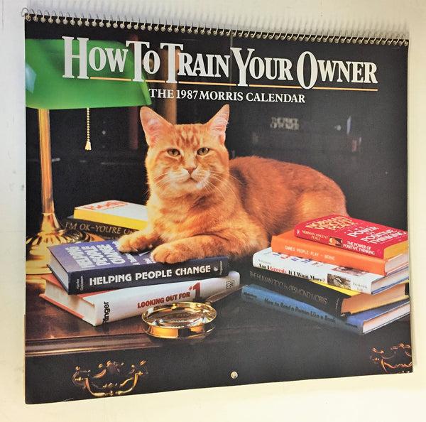 Vintage 1987 HOW TO TRAIN YOUR OWNER CALENDAR Morris The Cat 9-LIVES ADVERTISING