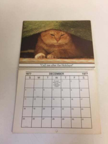 Vintage 1977 9-Lives Presents THE MORRIS CALENDAR Morris The Cat