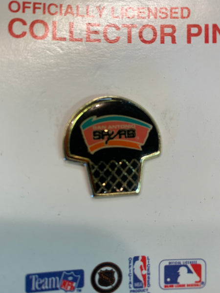 Vintage 1990's San Antonio Spurs Lapel Pin Basketball Sports Souvenir NBA NOS