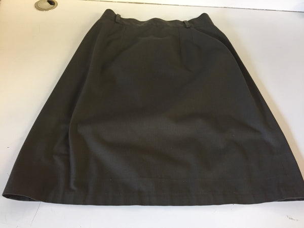 Vintage 1970's 80's Brownish Gray Businesses Mini Skirt