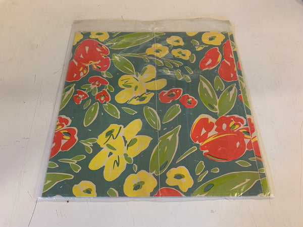 Vintage Artfair Floral Wrapping Paper NOS USA