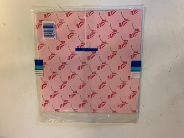 Vintage All Occasion Cleo Gift Wrap Pink Rainbow Graphics