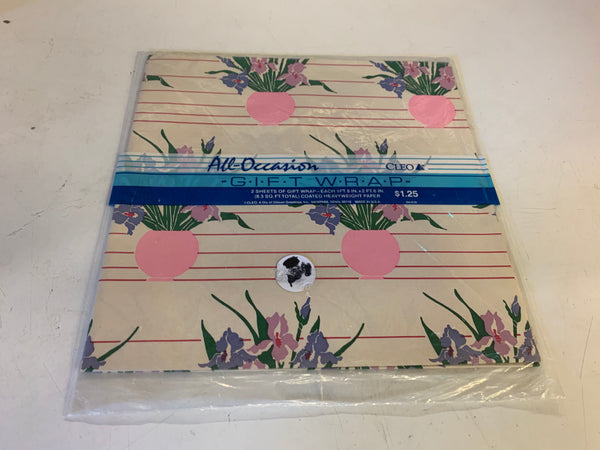 Vintage NOS Cleo All Occasion Gift Wrap Package