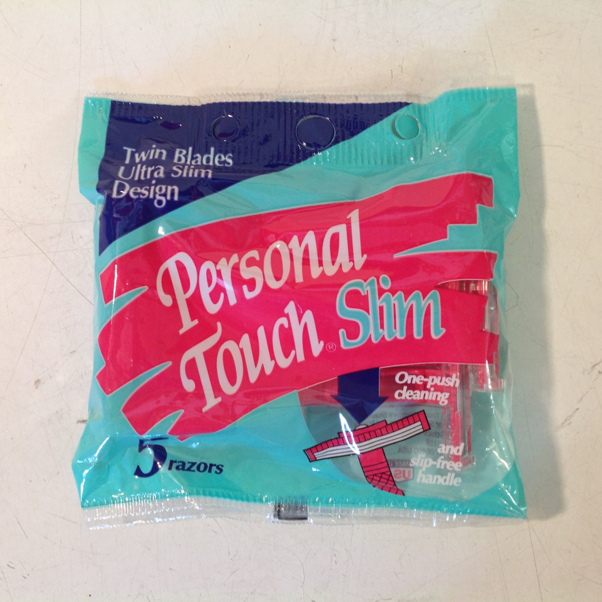 Vintage 1992 NOS SCHICK Personal Touch Slim Pack 5 Pink Twin Blade Razors Unused