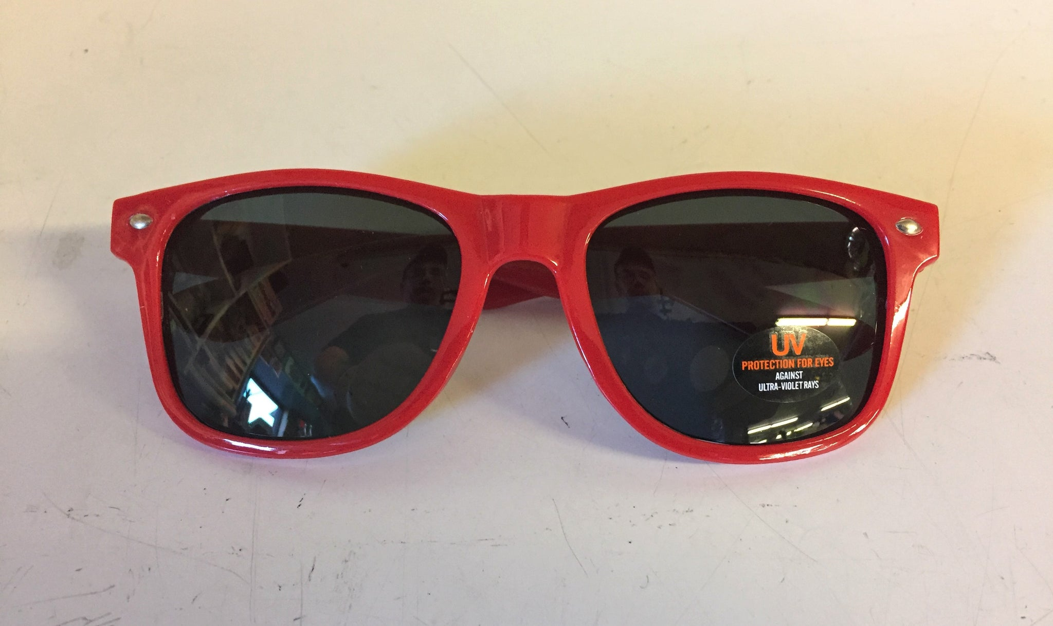 Cool Red Advertising Sunglasses Black Velvet Cinnamon Rush Beer Liquor