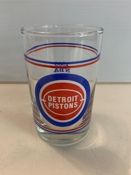 Vintage 1989 Detroit Pistons NBA World Champions Glass On The Rocks Basketball