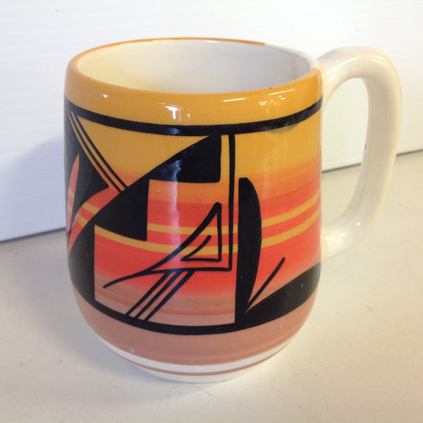 Vintage Southwestern Wing Ute Coffee Mug With Sunset Motif