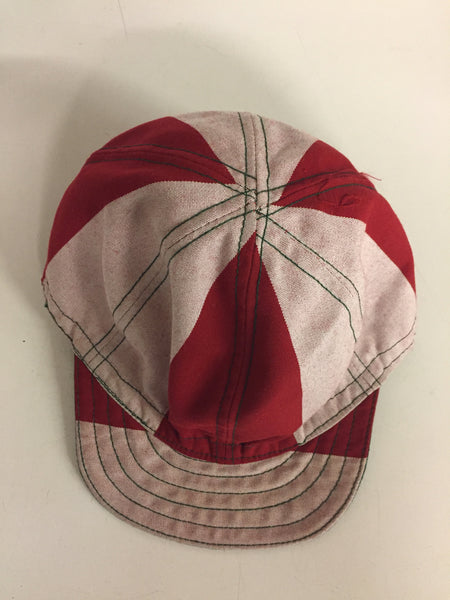 Vintage Red & White Landry's Cap Welder's Hat Retro
