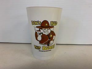 "Vintage ""Don't Feed That Bear"" State Trooper Traffic Ticket with Radio Codes Plastic Drink Cup"