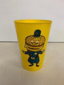 Vintage 1970's McDonald's Yellow Plastic Drink Cup Big Mac