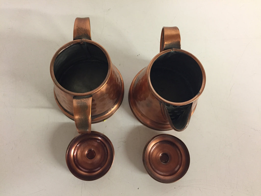 ... Vintage Solid Gregorian Copper Hammered Cream & Sugar Containers ...