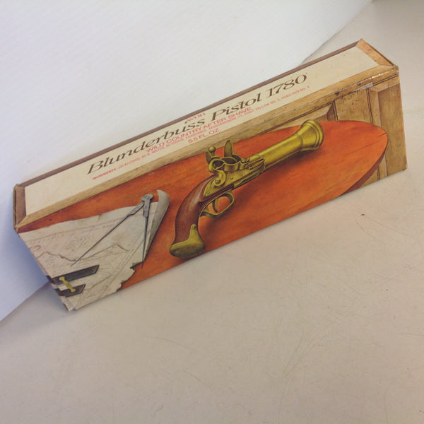 Vintage 1970's AVON Blunderbuss Pistol 1780 Glass Wild Country After Shave 5.5 Fl Oz Decanter with Original Box