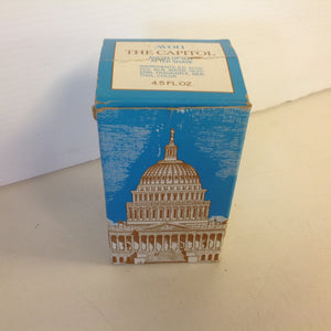 Vintage 1970's AVON The Capitol Avon Spicy After Shave Decanter Unused with Original Box