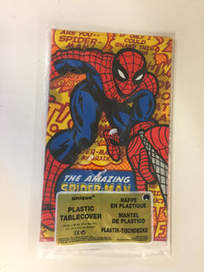 Vintage 1999 The Amazing Spiderman Plastic Table Cover NOS Seald Marvel