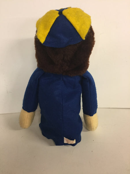 Vintage 1960's University Of Michigan Go Blue Novelty Hand Puppet Union Made USA