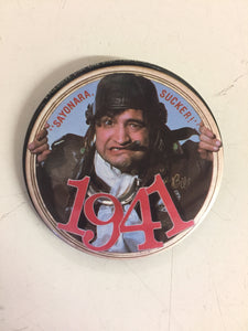 Vintage 1979 Sayonara Sucker 1941 Movie Promo Advertising Button Pin Back John Balushi