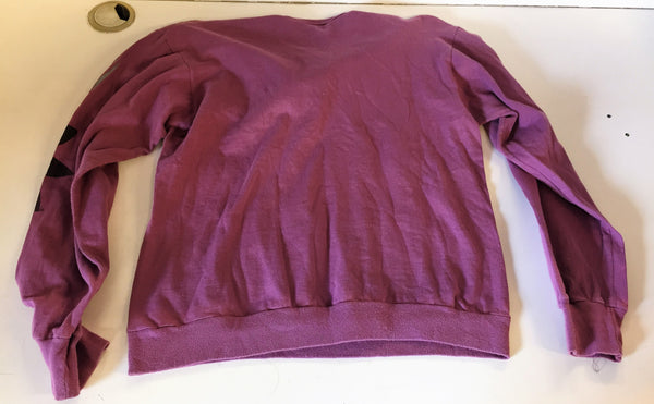 Vintage 1980's Adidas Purple Long Sleeve Pull Over Shirt Sz M Made In USA