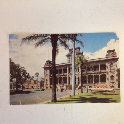 Vintage 1976 Souvenir Color Postcard Iolani Palace Honolulu Hawaii