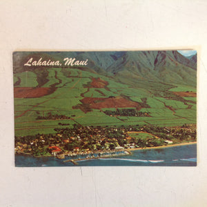 Vintage 1975 Color Postcard Lahaina Maui Hawaii Panorama Air Tour