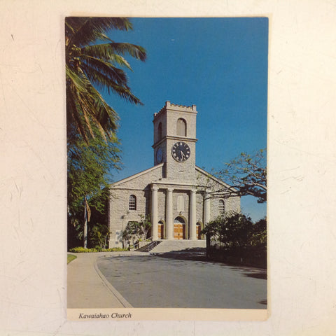 Vintage Color Postcard Kawaiahao Church Honolulu