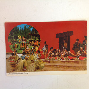 Vintage Color Postcard World Famous Polynesian Cultural Center Laie Oahu Hawaii