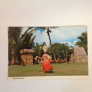 Vintage Color Postcard Tahitian Dancer Kodak Hula Show Hawaii