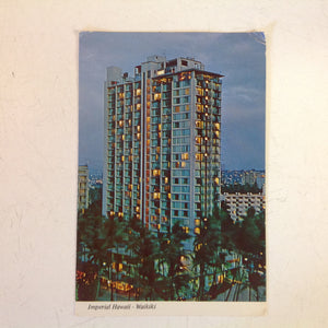Vintage 1975 Color Postcard Imperial Hawaii Waikiki Hotel Honolulu