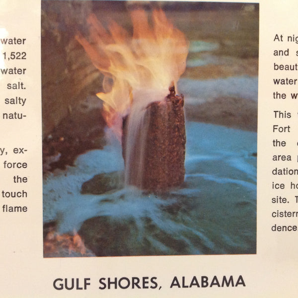 Vintage Dexter Supreme Scalloped Edged Color Postcard Fort Morgan's Eternal Flame Gulf Shores Alabama