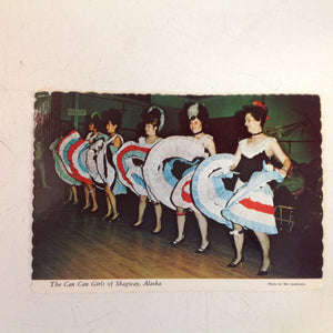 Vintage Alaska Joe Scalloped Edged Color Postcard The Can Can Girls of Skagway Alaska Anchorage