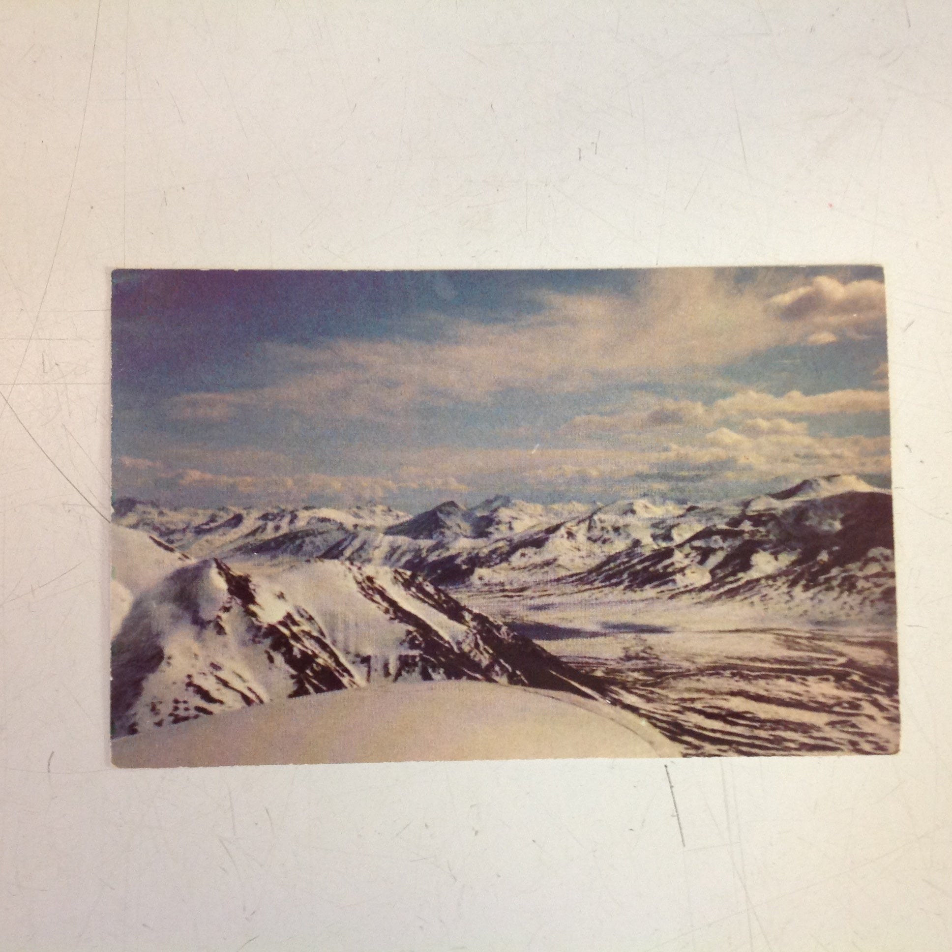 Vintage Color Postcard The Top of North America Brooks Range Rocky Mountains Alaska
