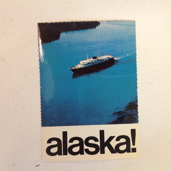 Vintage Alaska Joe Original Color Postcard Alaska State Ferry Inland Waters Anchorage Alaska