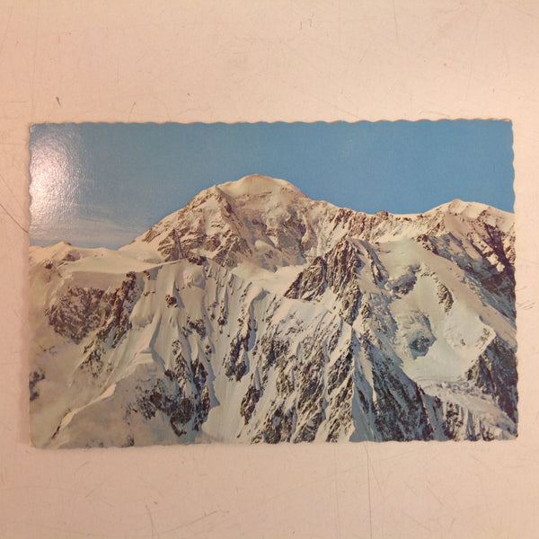 Vintage Continental Card Scalloped Edged Color Postcard Mike Roberts Photo Mount McKinley Alaska
