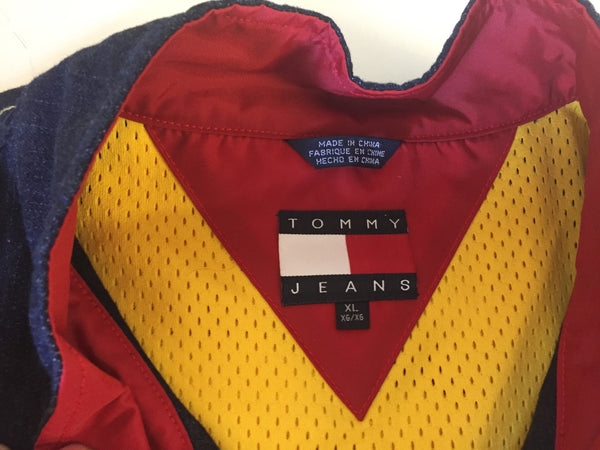 Vintage 1990's Tommy Jeans Activity Wear Vest W/ Built In Fanny Pack Sz XL