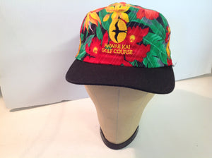 Vintage Imperial Headwear Hawailkai Golf Course Tournament Souvenir Floral Baseball Cap