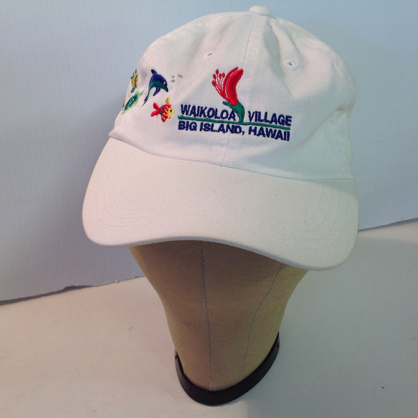 Vintage Imperial Headwear Waikoloa Village Big Island Hawaii Golf Souvenir White Baseball Cap