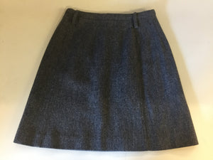 Vintage 1970's Grey Tweed Wool Micro Mini Skirt By Russ
