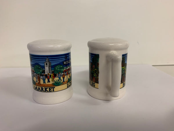 Vintage Karol Western Souvenir Los Angeles Farmers Market Salt and Pepper Shaker Set