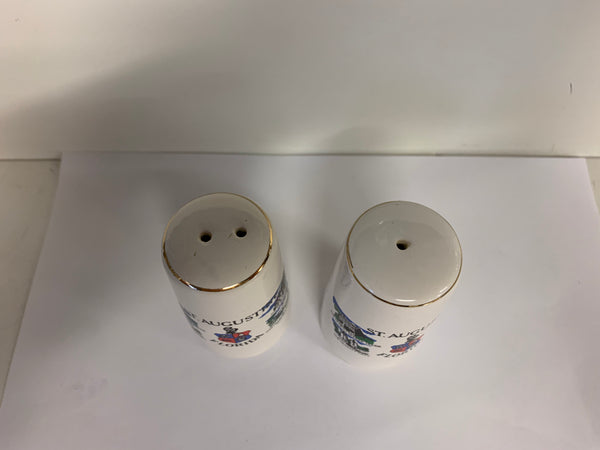 Vintage Souvenir St. Augustine Florida Salt and Pepper Shaker Set